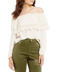 Coco Jaimeson Off The Shoulder Bell Sleeve Top