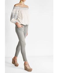 Velvet Cotton Off The Shoulder Top