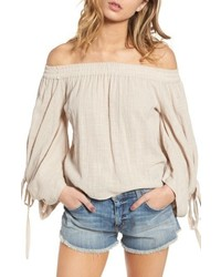 Misa Los Angeles Adeli Off The Shoulder Top