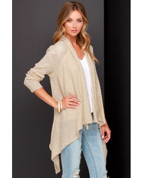 Ark & Co Knit Me Up Beige Cardigan Sweater | Where to buy & how to ...