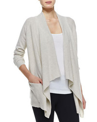 Cashmere draped open cardigan medium 284137