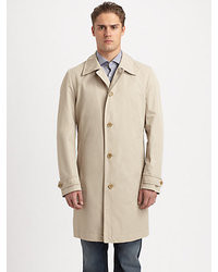 BOSS Fern Button Front Raincoat