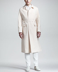 Jil Sander Long Single Breasted Trenchcoat