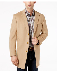 Tallia big tall slim fit camel peak lapel overcoat medium 6860341