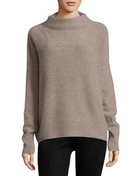 Funnel neck cashmere pullover sweater medium 4983666