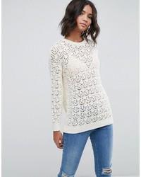 Asos Sweater In Crochet In Oversized Fit