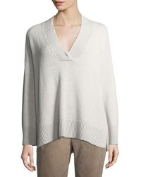 Vanise oversized v neck cashmere sweater medium 5146487