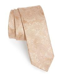 The Tie Bar Textured Paisley Silk Tie