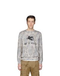 Etro Off White Neutra Paisley Pegaso Sweatshirt