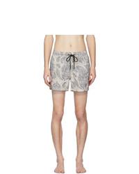 Etro Beige Paisley Swim Shorts