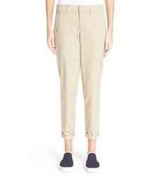 Vince Boyfriend Crop Cotton Trousers