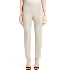 St. John Collection Emma Stretch Pique Ankle Pants
