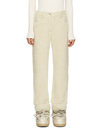 MM6 MAISON MARGIELA Ecru Faux Shearling Trousers