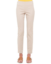 Akris Melissa Techno Slim Leg Pants Sand