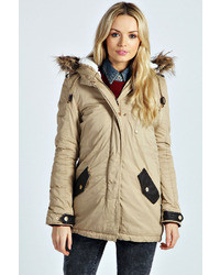 Boohoo Millie Sherpa Lined Hooded Parka