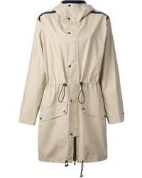 Wanda nylon hooded parka coat medium 37984