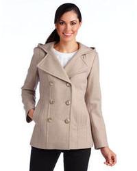 Anne Klein Hooded Pea Coat