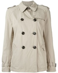Woolrich cropped trench coat medium 446310