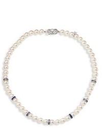 Mikimoto Akoya Sapphire Pearl Necklace