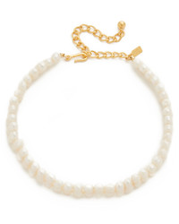 Imitation pearl choker necklace medium 953680