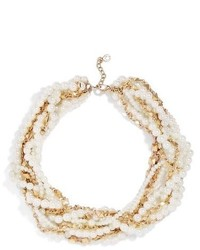 BaubleBar Maxine Faux Pearl Chain Collar Necklace