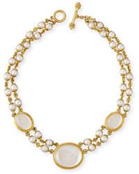 Elizabeth Locke Moth And Butterfly Pearl Necklace
