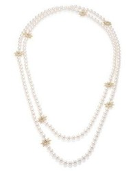 Adriana Orsini Statet Faux Pearl Crystal Station Necklace