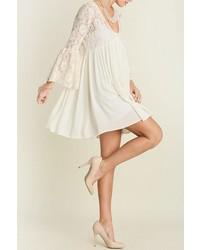 V neck peasant dress medium 582947