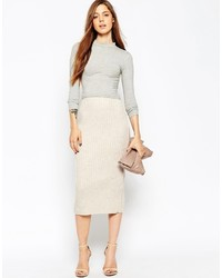 Asos Collection Pencil Skirt In Chunky Rib