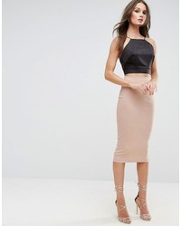 High waist longerline pencil skirt medium 3708520