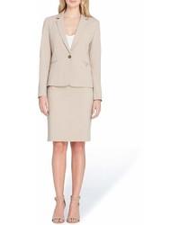 Tahari ASL Petite Size Notch Collar Besom Pocket Skirt Suit