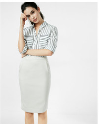 Express Pleated Pocket Pencil Skirt