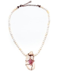 Alice And Clara Jane Quartz Oyster Necklace