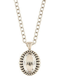 Lagos Venus Fluted Oval Crystal Pendant Necklace
