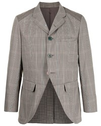 Undercover Open Front Checked Blazer