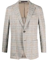 Bagnoli Sartoria Napoli Plaid Check Single Breasted Blazer