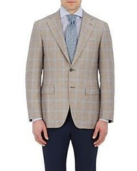 Canali Plaid Two Button Sportcoat Nude