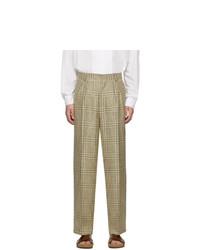 Jacquemus Green Checked Le Pantalon De Costume Trousers