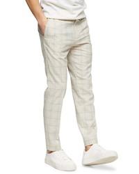 Topman Whyatt Classic Fit Plaid Trousers