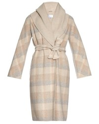 Beige Plaid Coat