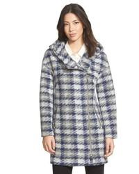 Soia & Kyo Kym Plaid Drop Shoulder Hooded Coat