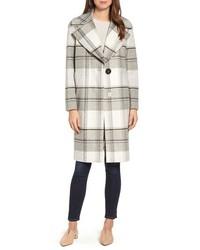 Kensie Plaid Long Coat