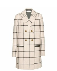 Tory Burch Plaid Wool Blend Coat