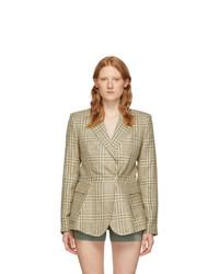 Jacquemus Green Check La Vest Qui Vole Blazer