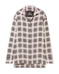 Marc Jacobs Checked Washed Silk Shirt