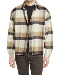 John Elliott Hemi Oversize Plaid Flannel Button Up Shirt