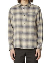 A.P.C. Surchemise John Plaid Flannel Button Up Shirt