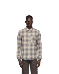 A.P.C. Beige Plaid John Shirt