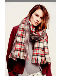 Free People Edinburg Double Sided Plaid Scarf