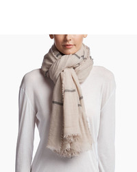 James Perse Faliero Sarti Cashmere Plaid Scarf